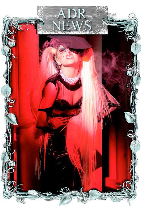 Lady Gaga strikes a pose at Mugler