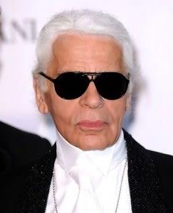 Karl Lagerfeld. Not a happy Kamper.