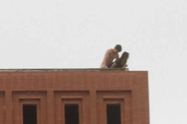Waite phillips hall rooftop sex photos