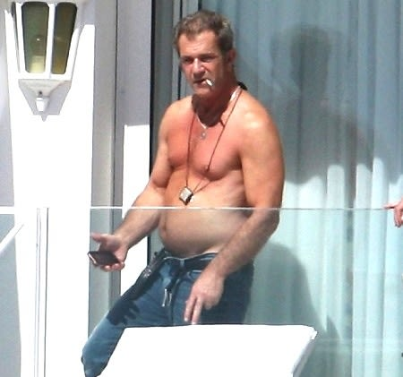 Shirtless Mel Gibson (In His 3rd Trimester?) May Not