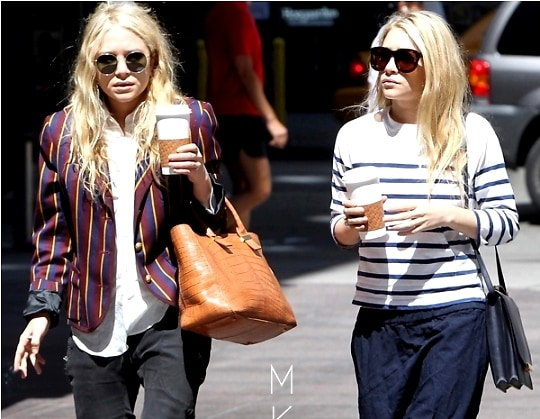 Mary Kate Ashley Olsen Model The Row S Upcoming Debut Handbag Line In Real Life