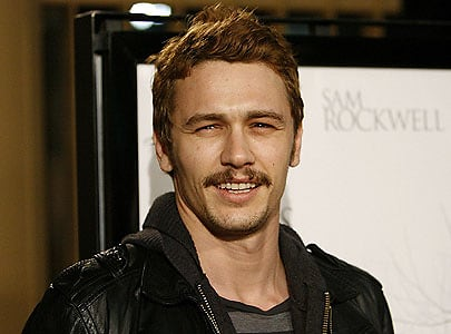 James Franco with mustache
