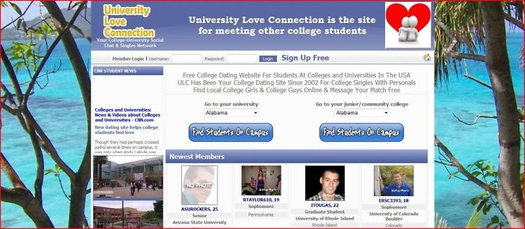 dating website students