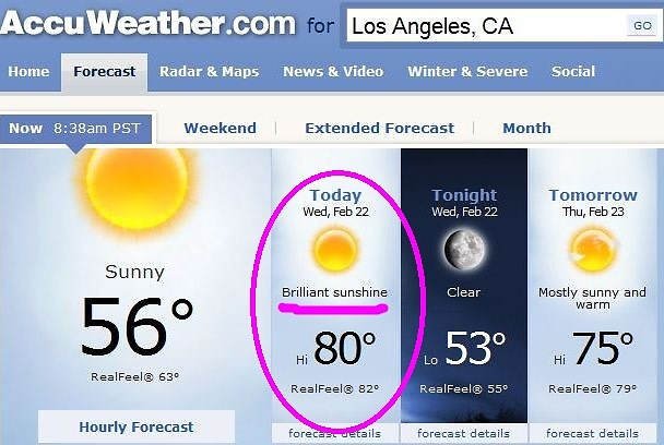 Another Reason To Be Glad You Live In L A  (And Not NYC) Today
