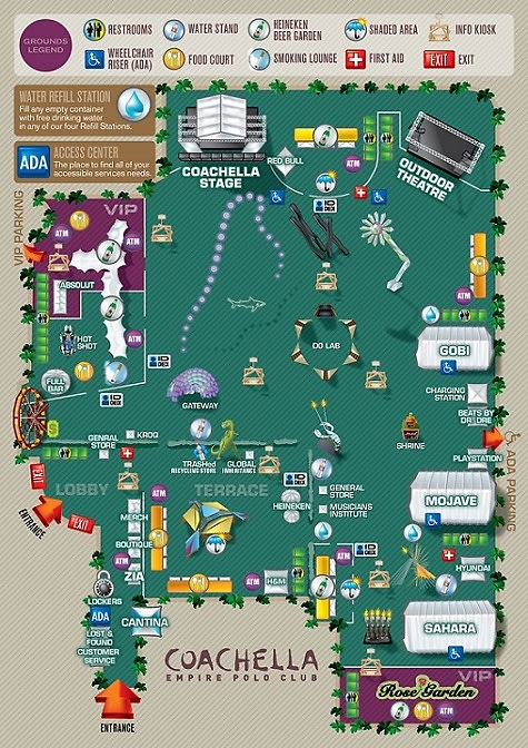 your map to the stages, bars and tents of the 2012 coachella