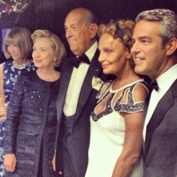Anna Wintour, Hillary Clinton, Oscar de la Renta, Diane von Furstenberg, Andy Cohen