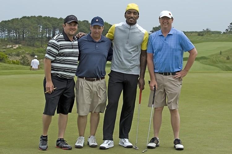 Paul Insalaco, Dr. Mark Creighton, J.R. Smith, and Ray Overton
