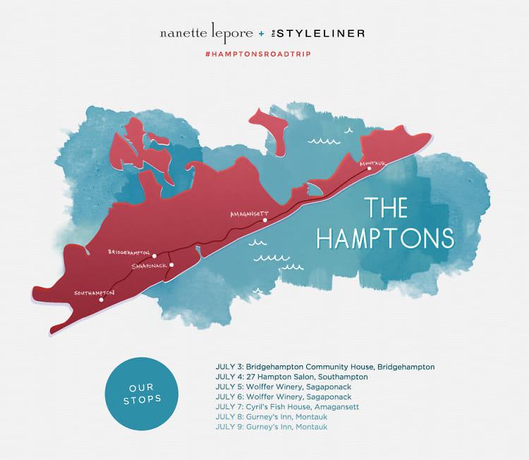 Nanette Lepore + the Styleliner Hamptons Road Trip
