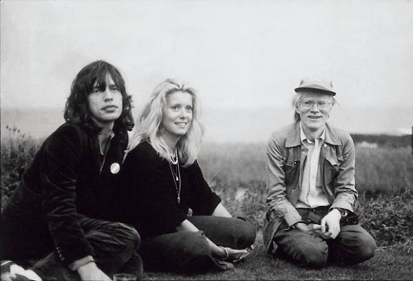 Mick Jagger, Catherine Deneuve, Andy Warhol