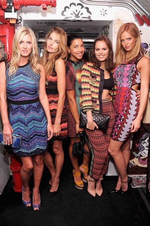 Nicky Hilton, Jessica Hart, Hannah Bronfman, Atlanta De Cadenet Taylor, Erin Heatherton