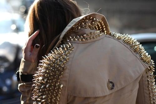 Studded jacket street style