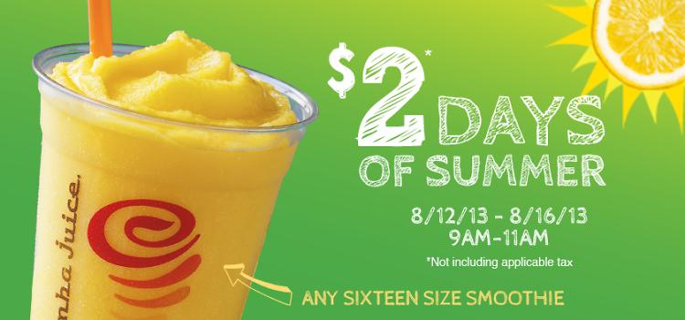 $2 Jamba Juice