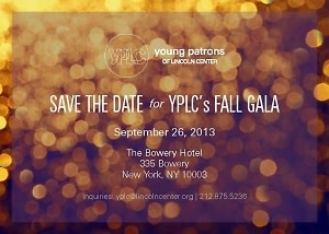 Young Patrons of Lincoln Center Annual Fall Gala