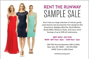 You're Invited: Rent The Runway's Semi-Annual Sample Sale