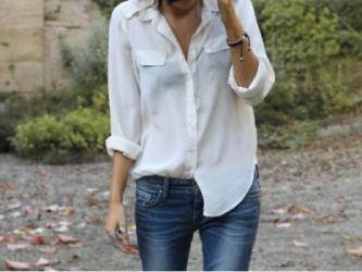 White blouse street style