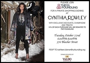 You're Invited! Cynthia Rowley and The New York Foundling Present a Night of Shopping for a Cause