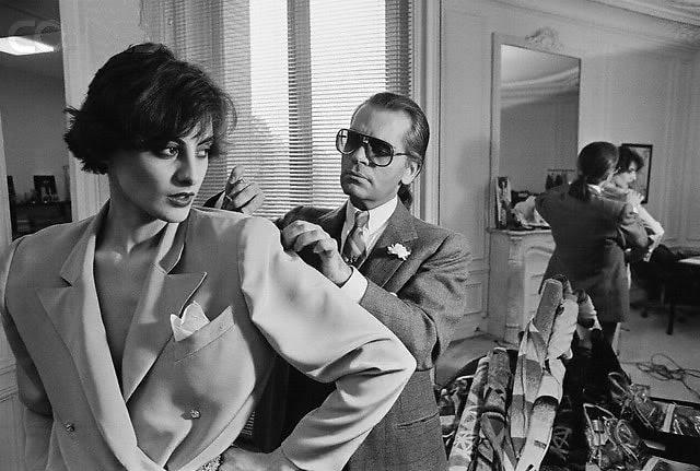 Ines de la Fressange, Karl Lagerfeld