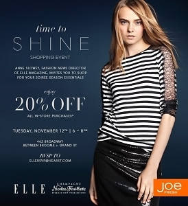 ELLE & Joe Fresh Time to Shine Holiday Event