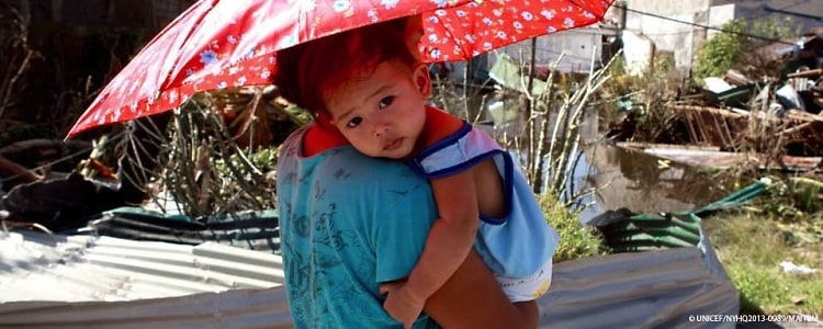 UNICEF Typhoon relief
