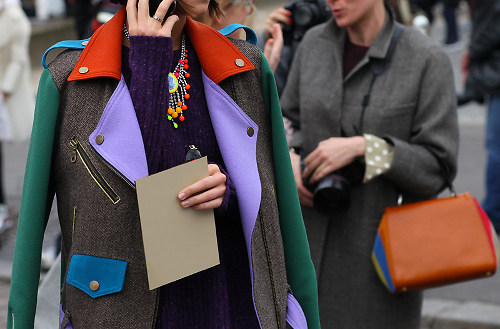 Colorful Coat Street Style