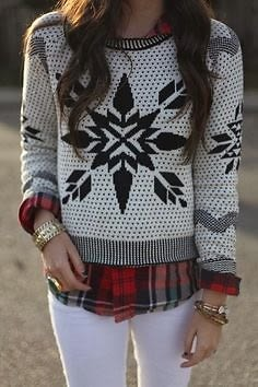 Holiday Sweater Street Style