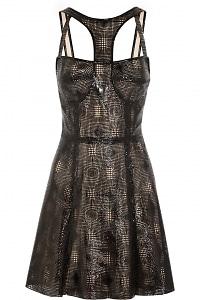 Laser-Cut Patent-Leather Dress
