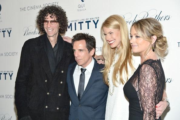 Howard Stern, Ben Stiller, Beth Ostrosky Stern, Christine Taylor