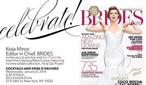 BRIDES' Editor Keija Minor and Zac Posen Celebrate the February/March Issue