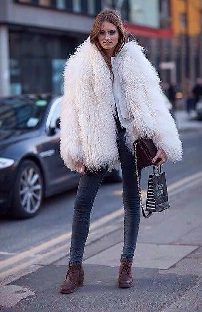 Faux Fur Street Style