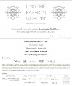 Lingerie Fashion Night IN Event