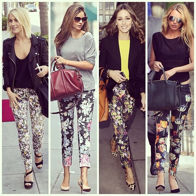 Floral Pant Street Style