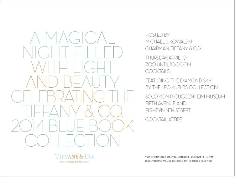 A Magical Night Filled with Light and Beauty Celebrating the Tiffany & Co. 2014 Blue Book Collection