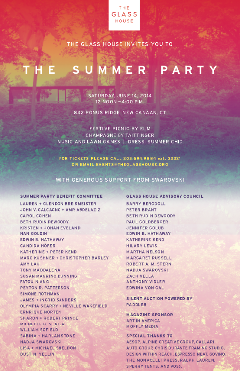 The Glass House Summer Party