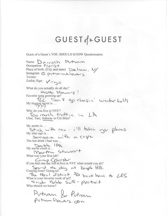 Darroch Putnam Questionnaire