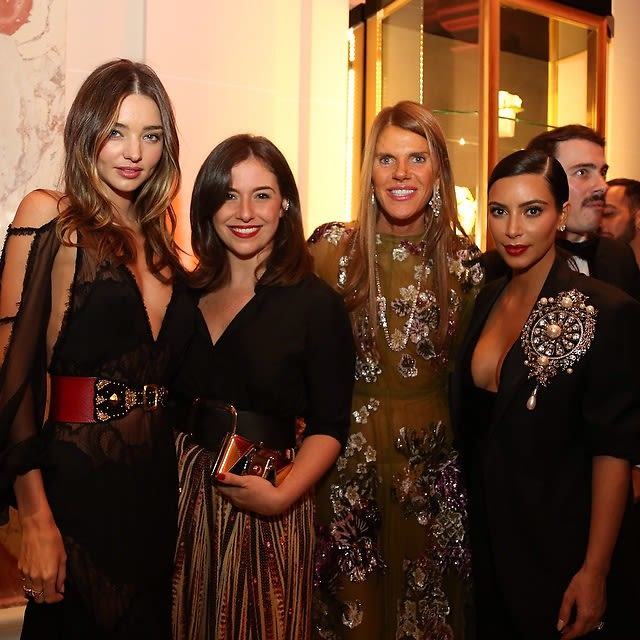 Miranda Kerr, Paula Cademartori, Anna Dello Russo, Kim Kardashian