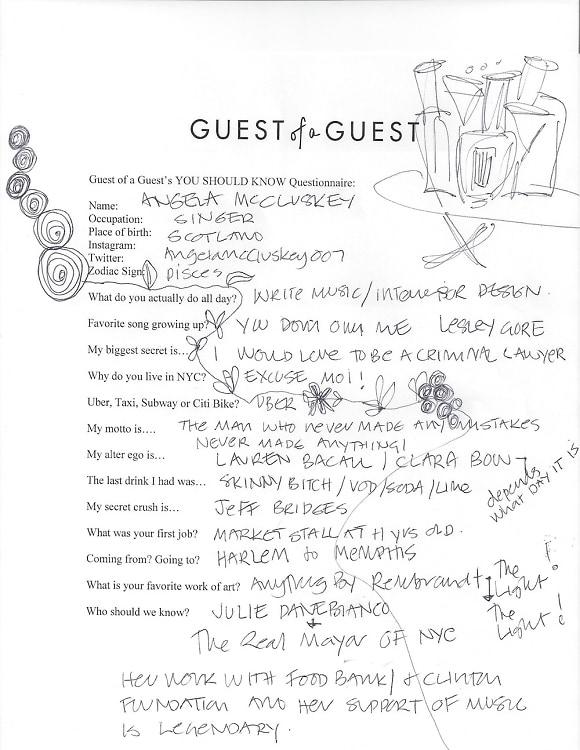 Angela McCluskey Questionnaire