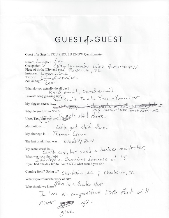 Logan Lee Questionnaire