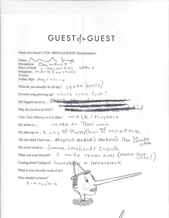 Mark Fox Questionnaire
