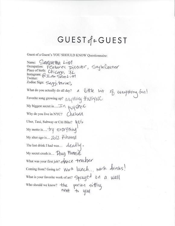 Samantha Lim Questionnaire