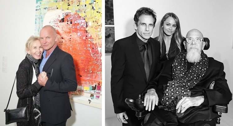 Ben Stiller, Chuck Close and Sting Support Artists For Peace and Justice At The Fierce Creativity Exhibition Preview