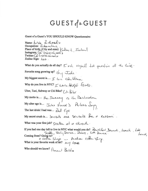 Lisle Richards Questionnaire