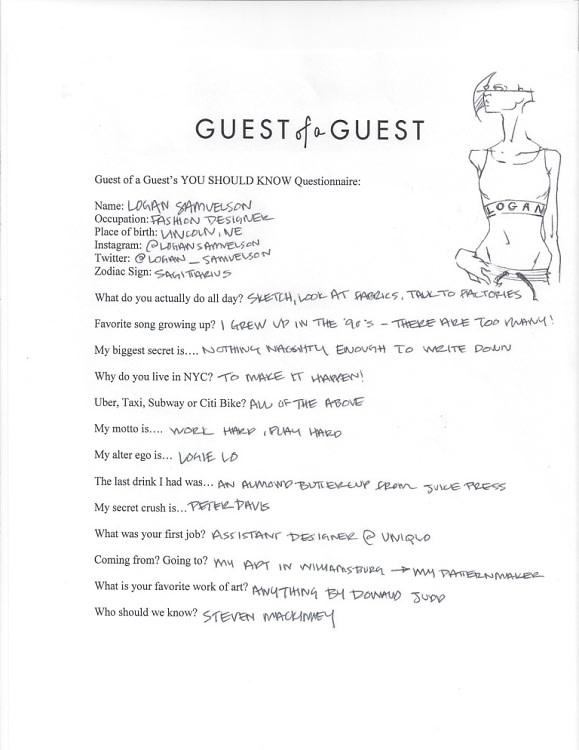logan samuelson questionnaire