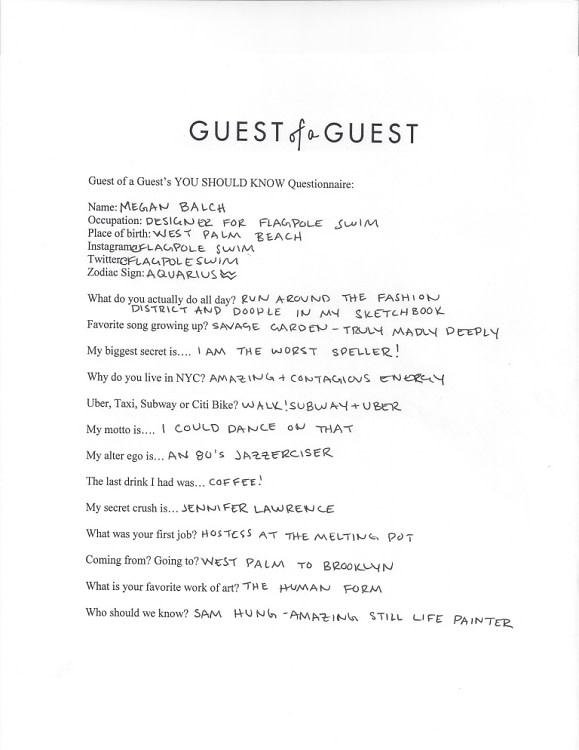 Megan Balch Questionnaire