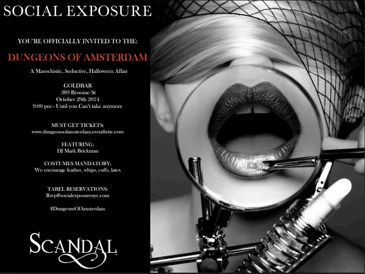The 2nd Dungeons Of Amsterdam Halloween Party