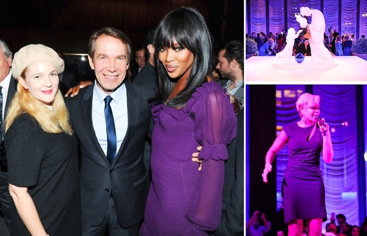 6 Birkin Bags, A $4 Million Koons Sculpture, Naomi Campbell & More At The Project Perpetual Dinner & Auction