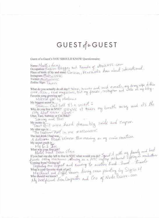 Martha Luna Questionnaire