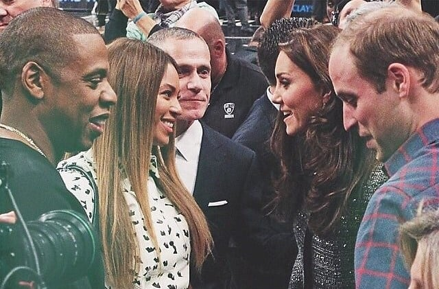 Jay-Z, Beyonce, Kate Middleton, Prince William