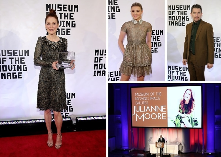 Chloe Grace Moretz & Ethan Hawk Help Honor Julianne Moore With The Museum Of The Moving Image