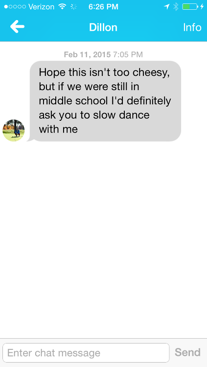 First pick up line for online dating