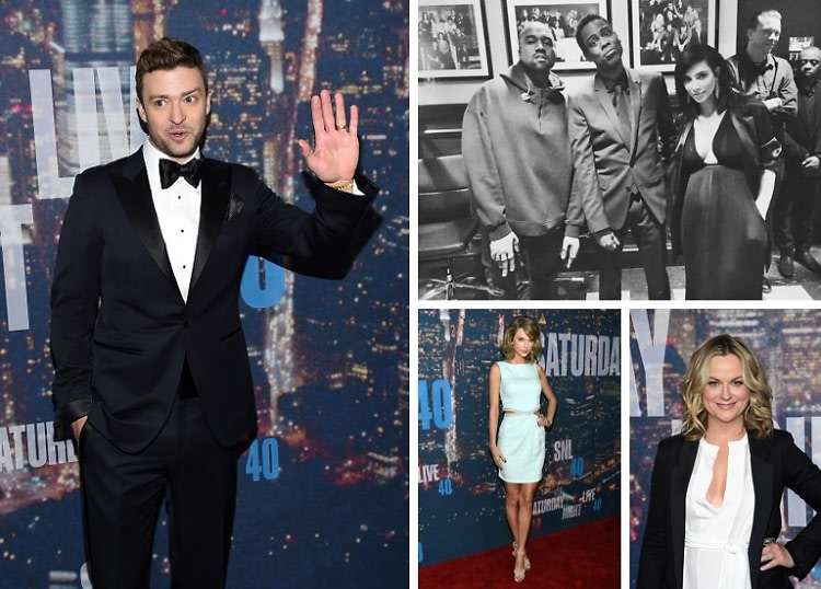 Justin Timberlake, Kanye West & Taylor Swift Join Comedy Greats At The #SNL40 Celebration